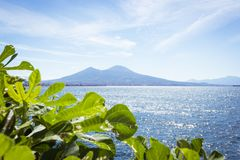 View of the bay and Vesuvius Volcano Stock Photo