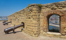 Naples, cannons of Castel dell'Ovo - Italy Royalty Free Stock Photo