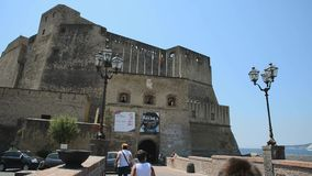Naples, Castel dell'Ovo stock video footage