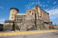 NAPLES Castel Nuovo Maschio Angioino royaltyfria bilder