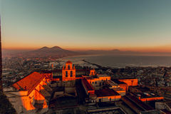Naples, castel sant'elmo stock photo