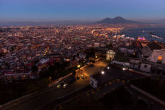 Naples, castel sant'elmo view stock photos