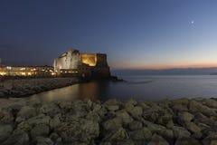 Naples casteldell'ovo royaltyfri foto