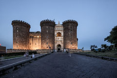 Naples Castello Maschio Angioino Royaltyfri Foto