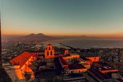 Naples castelsant'elmo Arkivfoto
