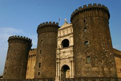 Naples castle royalty free stock photos
