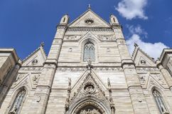 Naples Cathedral facade, Italy Stock Photo
