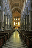 Naples' cathedral; the nave Royalty Free Stock Photos