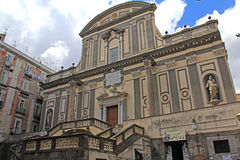 Naples; church of S. Gaetano Royalty Free Stock Images