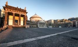 Naples, church of Sain Francesco di Paola Royalty Free Stock Photo