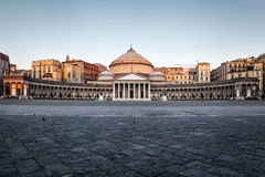 Naples, church of Sain Francesco di Paola Royalty Free Stock Images