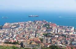 Naples city and Gulf of Naples, Campania region, Italy Stock Photo