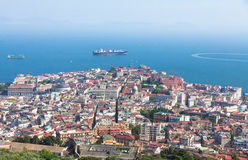 Naples city and Gulf of Naples, Campania region, Italy Stock Photo