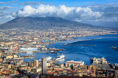 Naples City panorama Royalty Free Stock Images