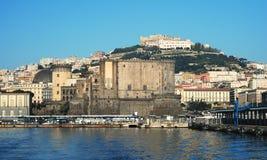 Naples city port Stock Image
