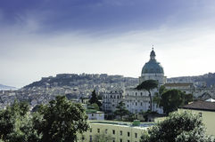 Naples cityscape royalty free stock images