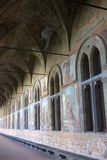 Naples - Clarisse cloister of Saint Claire. The majolica cloister of Santa Chiara cathedral Stock Images