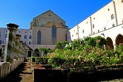 Naples: cloister of the monastery of S. Clara Royalty Free Stock Image
