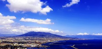 Naples. Clouds stock photography