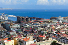 Naples, coast and port, Italy Royalty Free Stock Photo