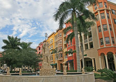 Naples Condos. A view of condos on the bayfront in Naples, Florida Royalty Free Stock Photography