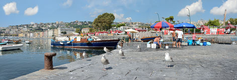 Naples fishermen Royalty Free Stock Image