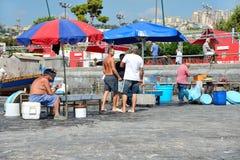 Naples fisherrmen Obraz Royalty Free