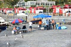 Naples fisherrmen Fotografia Stock
