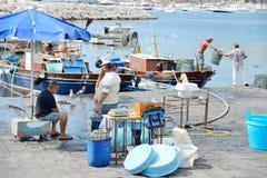 Naples fisherrmen Obrazy Royalty Free