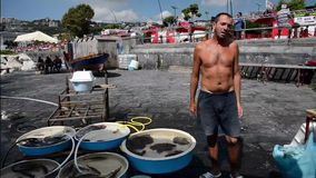 Naples fisherrmen Royalty Free Stock Photo