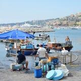 Naples fisherrmen Royalty Free Stock Photos