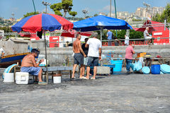 Naples fisherrmen Royalty Free Stock Image