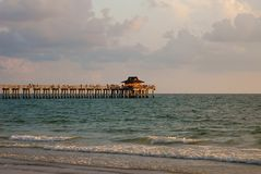 Naples fishing pier at sunset Stock Photo