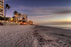 Naples florida. Shoreline, gulf of mexico Royalty Free Stock Image