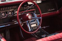 All original red 1966 Ford Thunderbird at the 32nd Annual Naples Depot Classic Car Show stock image