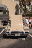 Tan 1962 Chevrolet Corvette Convertible at the 32nd Annual Naples Depot Classic Car Show stock photo