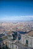 Naples flyby view. Panoramic view of Naples town and Gulf from Sant Elmo Castle Royalty Free Stock Photo