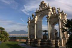 Naples - fontanna gigant Obrazy Royalty Free