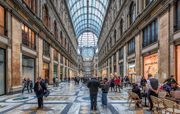 Naples Galleria Umberto I Royaltyfri Foto