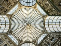 Naples, Galleria Umberto I, the dome royalty free stock photo