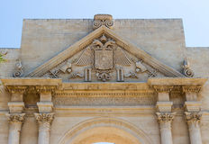 Naples Gate in Lecce 3. Naples Gate in Lecce. Apulia, Italy royalty free stock photos