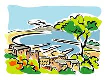 Naples (Golfe de Naples) Images libres de droits