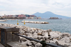 Naples' gulf from promenade Stock Images