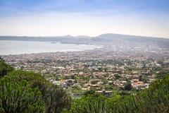 Naples Gulf taken from Vesuvius volcano, Italy Royalty Free Stock Photography