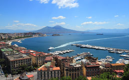 Naples gulf Royalty Free Stock Photo