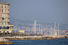 Naples harbour, Italy Stock Images