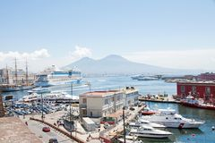 Naples harbour, Italy Royalty Free Stock Photography
