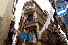 Naples husgata Italien Arkivfoto