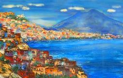 Naples i dag Royaltyfria Foton
