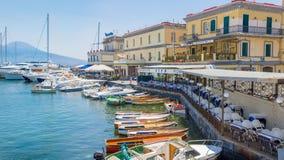 Naples Italien, Borgo Marinari arkivbild